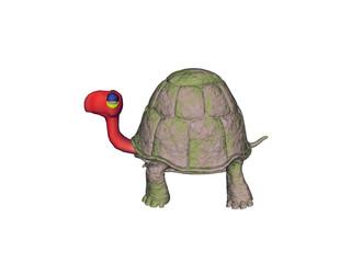 Cartoon Schildkröte mit langem Hals