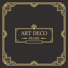 Art deco border and frame template