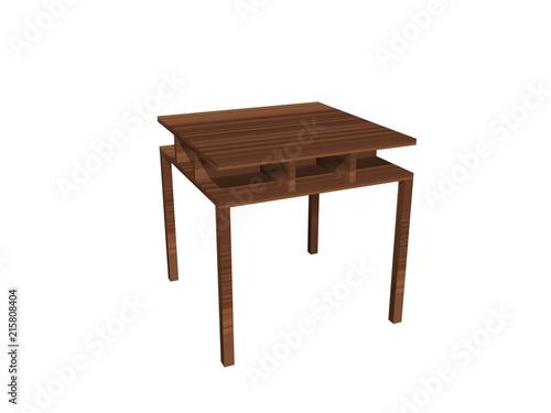 Grafik Mobel Holzern Einrichtung Tisch Ablage Glasplatte