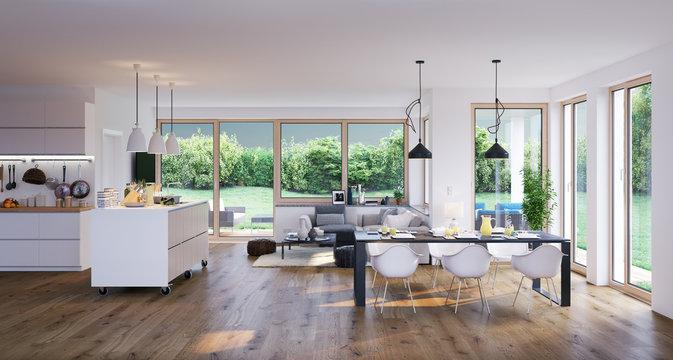 living room in modern luxury villa - wohnzimmer in Luxus Villa