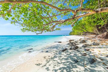 blue sky and sea. Koh Rok island, Krabi, Thailand.