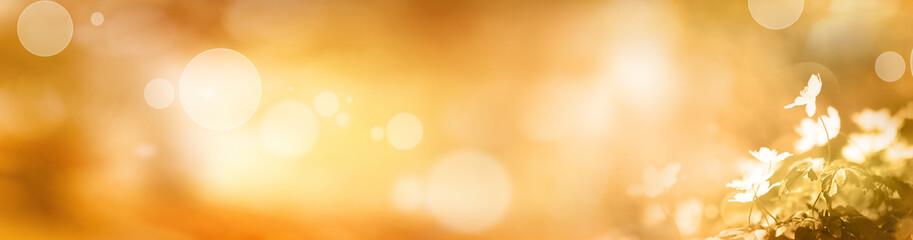 Golden abstract autumn background