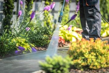 Obraz Power Washing Garden Paths - fototapety do salonu