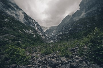 Wall Mural - Rainy Glacier Landscape
