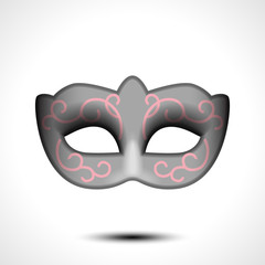 Masquerade party mask. Carnival mask isolated on white background, front view