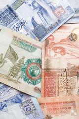 Jordanian dinars, banknotes close-up