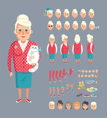 Granny Constructor Collection Vector Illustration