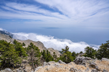 Mountain Ainos from the top of Kefalonia Greece