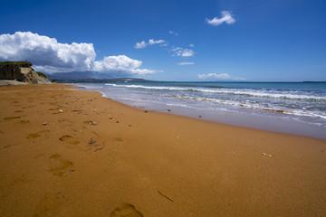 Xi Beach in Kefalonia Island Greece on sunny day