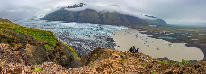 Wonderful and big Skaftafellsjokull glacier near Skaftafell on South Iceland