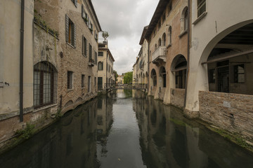 Treviso city, Italy, also known as Small Venezia, and its canals