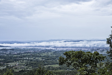 View of Chaing Khan from Phu Thok