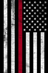 Firefighter Support Vertical Textured Flag