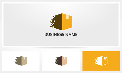 Cardboard Box Disintegrate Logo