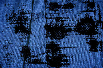 Dirty grunge Ultra blue Linen fabric surface for mock-up or designer use, book cover sample, swatch