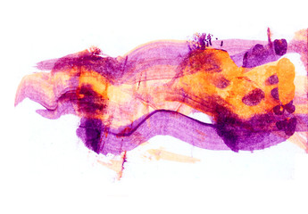 Abstract hand drawn violet paint spot.