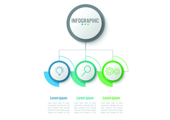 Business infographic circle diagram template with business icon. Vector illustration