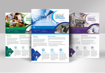 Flyer Layout with Circular Elements