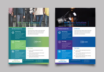 Flyer Layout with Rectangles and Gradients