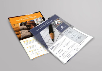 Flyer Layout with Large Header Photo Placeholder