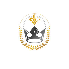 Imperial Crown emblem. Heraldic Coat of Arms, vintage vector logo. Ancient logotype isolated on white background.