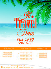 nice and beautiful brochures or travel flyers templates with nice and creative design illustration.
