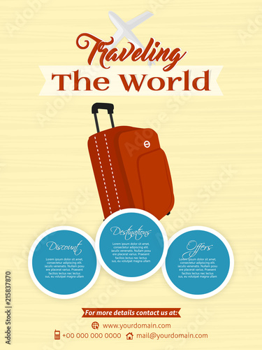 nice and beautiful brochures or travel flyers templates with nice ...