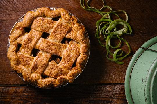Ali Rudel's Bourbon Caramel Apple Pie, Durham NC