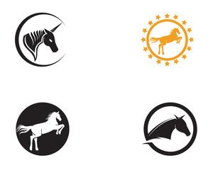 Horse head black  Logo Template Vector