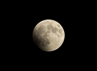 Umbral phase (partial phase) observed in the intial stage of Lunar Eclipse on 27-28 July 2018 at Bahrain