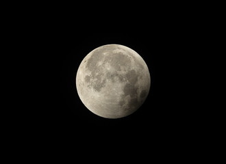 Start of Penumbral phase observed in the later stage of Lunar Eclipse on 27-28 July 2018 at Bahrain