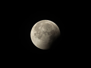 Umbral phase (Partial phase) observed in the later stage of Lunar Eclipse on 27-28 July 2018 at Bahrain