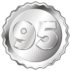 Silver Plate - Badge with Number 95.