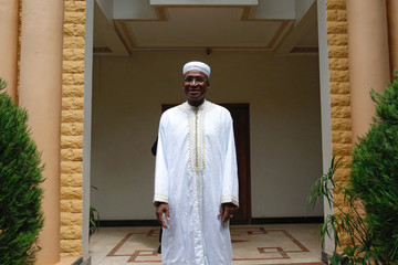 Presidential candidate Aliou Diallo, leader of the Democratic Alliance for Peace (Alliance Democratique pour la Paix, or ADP-MALIBA) Party poses for a picture at his home in Bamako