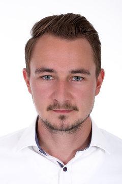 Passbild Passfoto eines Mannes