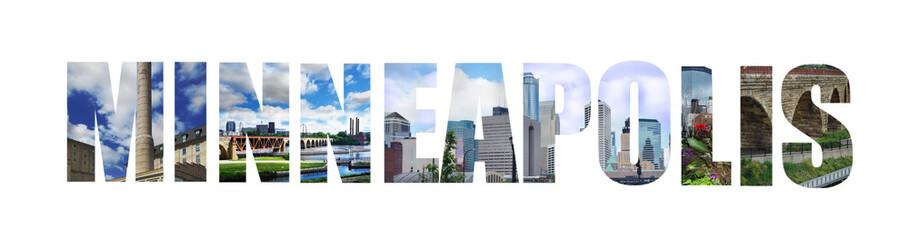Minneapolis banner on white