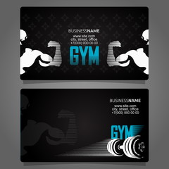 Fitness and gym business card