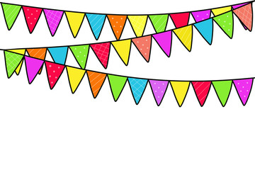 Party background with flags Illustration