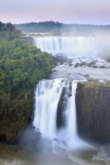 View of the Iguassu (Iguazu) (Iguacu) Falls, UNESCO World Heritage Site, a waterfall on the border of Brazil and Argentina, South America