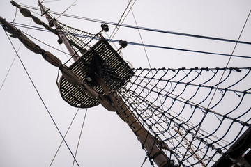Sailing ship pole
