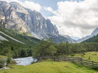 Mountain scene in the Alps of the Pinnis Valley, Stubai, Tyrol, Austria, Europe