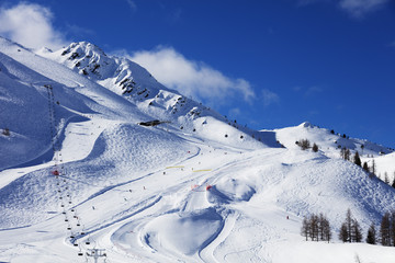 Grand Montet ski area, Chamonix, Haute Savoie, Rhone Alpes, French Alps, France, Europe