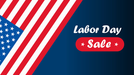 American Labor day vector illustration. Labor day card design, sale.