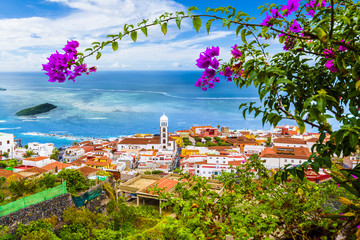 Wall Mural - View of Garachico town of Tenerife, Canary Islands, Spain