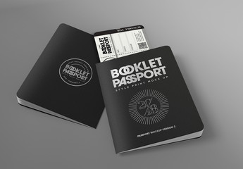 Passport Booklet Mockup