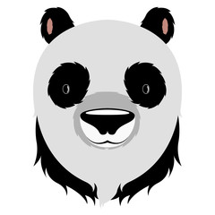 Isolated cute panda avatar