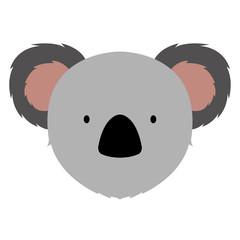 Isolated cute koala avatar
