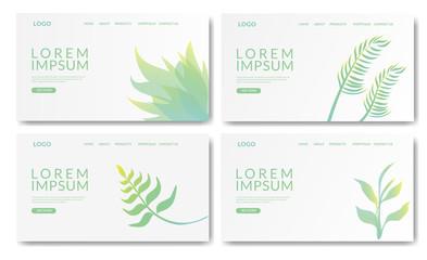 Set of creative website template designs. Website template for websites or apps.
