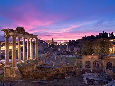 Roman Forum at Sunrise. Rome. Italy