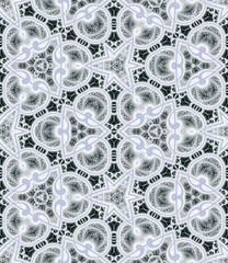Abstract fractal seamless geometric pattern, computer-generated illustration.